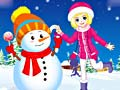 Game Winter Snowman and Girl