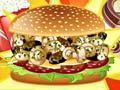 Game Mushroom Melt Burger