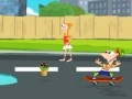 Spiel Phineas and Ferb: Super skateboard