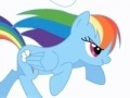 Spiel Friendship is Magic - Rainbow Dash attack cloud