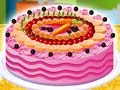 Game Cake Full of Fruits Decoration