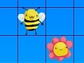 Spel Bees and flowers