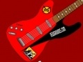 Spiel Red and Black Guitar