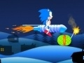 Game Super Sonic: Flying on a rocket