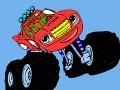 Permainan Blaze and the monster machines: Coloring