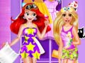 Spiel Ariel and Rapunzel Pijama Party