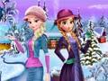 খেলা Elsa and Anna Winter Dress Up