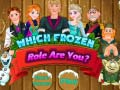 Jeu Which Frozen Role Are You