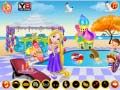 Игра Baby Rapunzel Pool Party