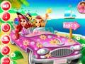 খেলা Princesses Beach Trip