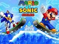 Game Mario vs Sonic Skiing