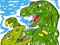 Gioco T Rex Fighting Coloring Page