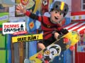 Jogo Dennis and Fletcher: A race on a skateboard
