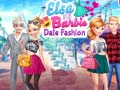 Hry Elsa and Barbie Date Fashion