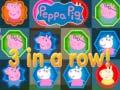 খেলা Peppa Pig 3 In a Row