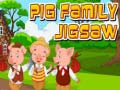 Lojë Pig Family Jigsaw