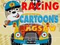 Spēle Racing Cartoons Jigsaw