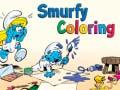 খেলা Smurfy Coloring
