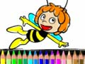 Back To School Maja the Bee Coloring Book קחשמ