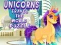 খেলা Unicorns Travel The World Puzzle