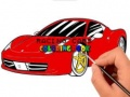 ゲームRacing Cars Coloring book