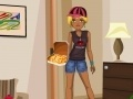 Игра Party Dress with pizza
