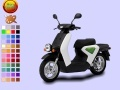 Black Scooter Coloring  ﺔﺒﻌﻟ