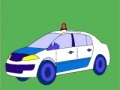 Game Old model police car coloring